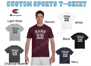 NEW Champion Personalized Adult Sports Team Champion T-Shirt Team Name Number