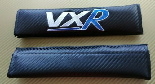 Vauxhall VXR Astra Corsa Insignia GTC Seat Belt Cover Pads x2 Blue Carbon NEW