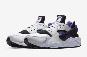 ba67bad8275 NIKE AIR HUARACHE RUN 91 QS OG WHITE BLACK PURPLE AH8049 001 MENS ...