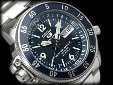 NEW MEN'S 200M SEIKO 5 SPORTS 23 JEWEL AUTOMATIC BLUE DIAL COMPASS RING SKZ209J1