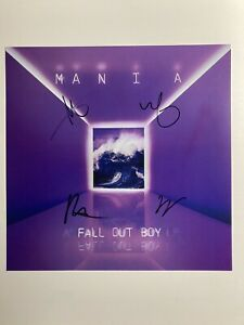 FALL OUT BOY PERSONALLY SIGNED//AUTOGRAPHED PATRICK STUMP POSTER