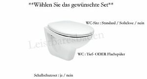 komplettset laufen europa wand wc tiefsp ler flachsp ler wc sitz w hlen sie ebay. Black Bedroom Furniture Sets. Home Design Ideas