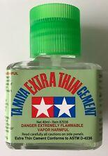 Tamiya 87038 Extra Sottile Liquid Cemento Colla 40ml (Per Plastica Kit) NUOVO