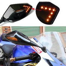 Side Black Racing LED Mirrors For HONDA CBR600RR 2003-2015 CBR 1000 RR 2004-2007