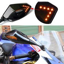 BLACK MOTORCYCLE REARVIEW SIDE MIRRORS FOR 2004-2007 HONDA CBR1000RR 600RR BIKE