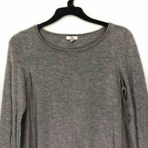 Joie-Leticia-B-Shark-Bite-Women-039-s-Sweater-Gray-Size-Large-Retail-228