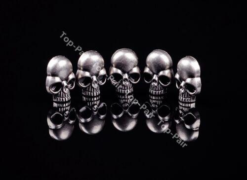 15X21MM 20pcs Punk Antique Silver Nickel Skull Conchos Rivet For Leathercraft