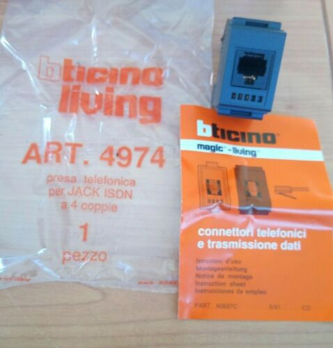 PRESA TELEFONICA BTICINO LIVING ART.4974