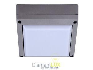 Plafoniere Per Esterni Alluminio : Dalmine 2600 plafoniera per esterno moderno quadrata alluminio