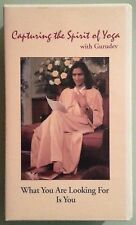 CAPTURING THE SPIRIT OF YOGA gurudev WHAT YOU ARE LOOKING FOR IS  VHS VIDEOTAPE