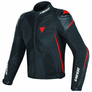 DAINESE-SUPER-RIDER-D-DRY-BLACK-BLACK-FLUO-RED-MOTORCYCLE-JACKET-FREE-SHIPPING