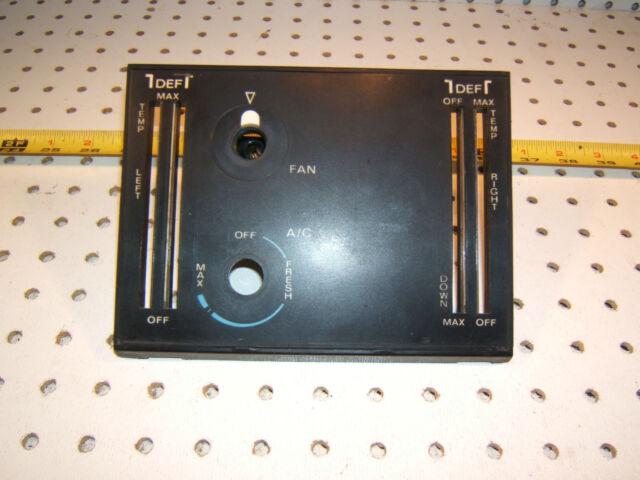Mercedes R107 1976 450SL/SLC Climate control plastic black 1 Cover & Fan switch