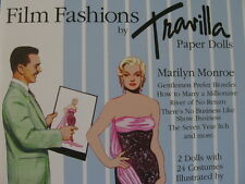 * FUN Marilyn Monroe TIERNEY Paper Dolls & 24 Movie Costumes 14-page Booklet NEW