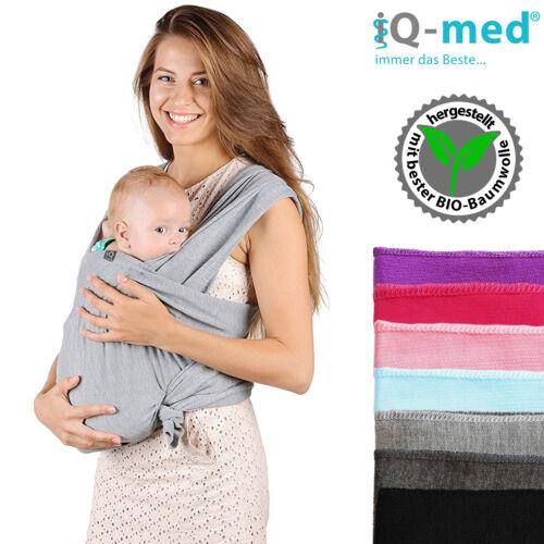 Babytragetuch von iQ-med®aus BIO-BaumwolleBauchtrage Baby Tragetuch