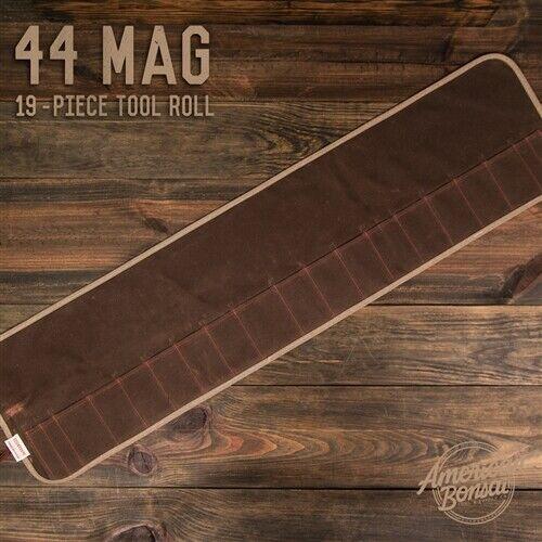 American Bonsai Waxed Canvas 44 Mag Tool Roll  S7 & SI Tools - 19 Slots