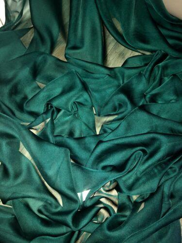 "147cm Vestido de novia 3 MTR Verde Botella catiónicos Sheer de tela de gasa,.. 58/"" de ancho"