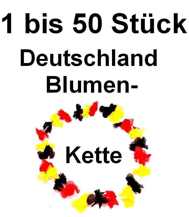 Hawaiikette Blaumenkette Deutschland Halskette Blaumen Kette WM EM Fussball Hals  | Primäre Qualität