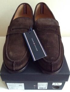 Tommy Hilfiger Brown Suede Loafers Size
