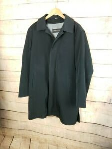 KENNETH-COLE-Mens-M-Black-Overcoat-Raincoat-w-Removable-Lining