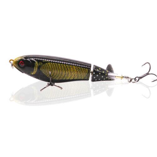 Whopper Popper Floating Rotating Tail Fishing Lure Bass Bait Hard Bait 11CM