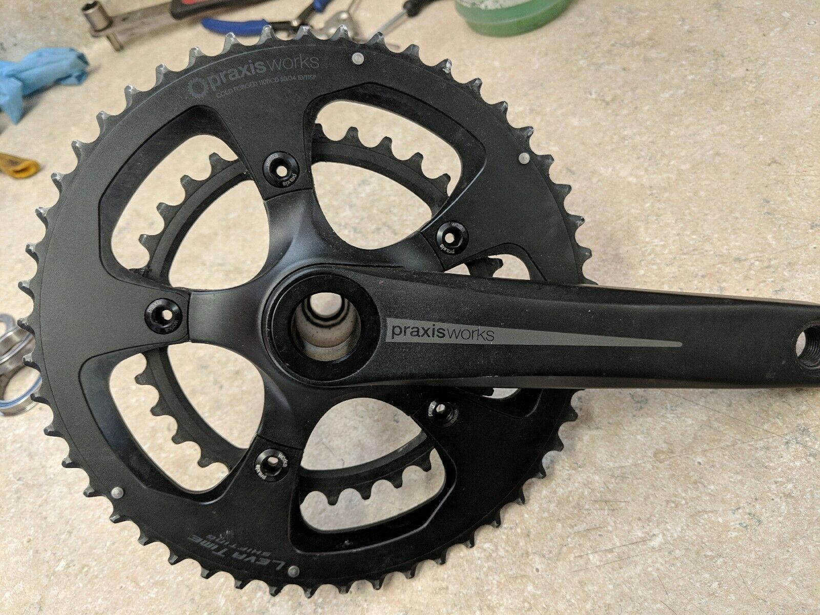 Praxis Zayante M30 crankset 50 34 chainrings, bb86, 175mm inc. Sealed BB Bearing