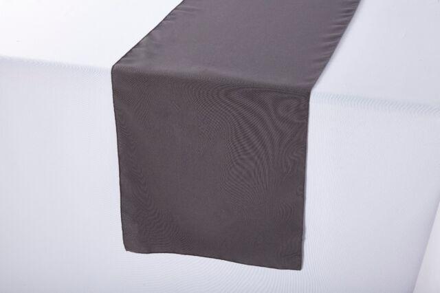 Black Runner Linens Factory Runner Polyester 12x108 Inches