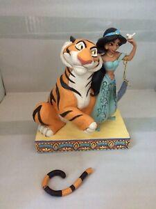 DAMAGED-Disney-Traditions-Jim-Shore-Figurine-Jasmine-And-Rajah-Colour-Edition