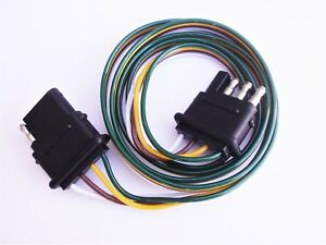 details about 4 way flat trailer wiring harness wire 48\