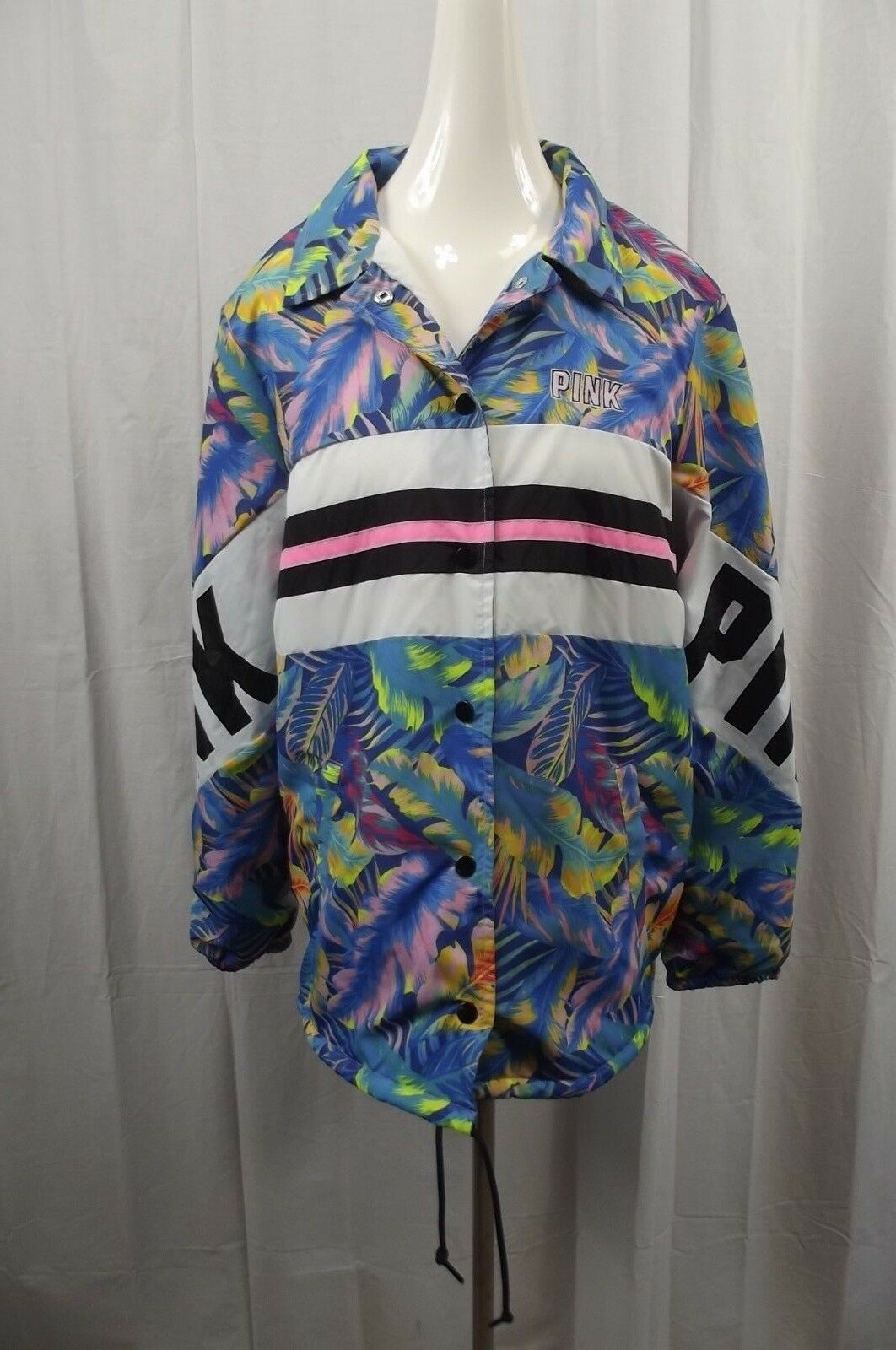 nouveau Victoria's Secret rose pour Femme M Medium Sherpa Lined Windbreaker veste