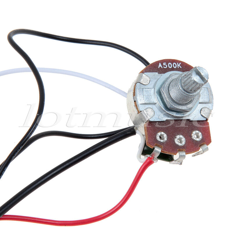 custom guitar wiring harness electric guitar wiring harness 2 volume 1 tone 500k 3 way ...