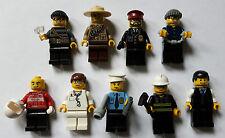 LEGO® City 9 Figuren & Zubehör (Polizei Räüber Feuerwehr Arzt Sanitäter Octan)