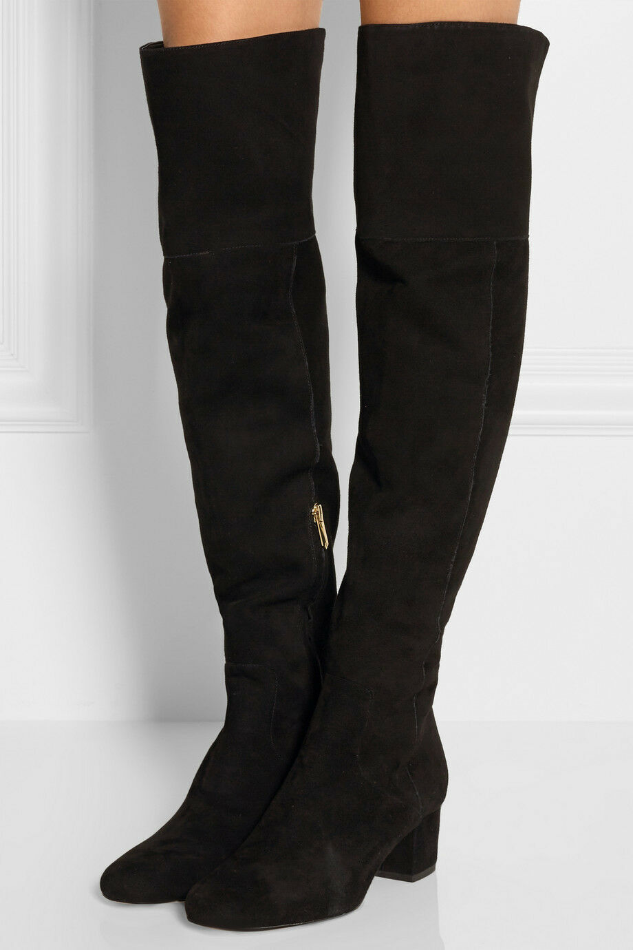 NWB Sam Edelman Elina Over the Knee Boot Black Suede - Women's Size 7.5