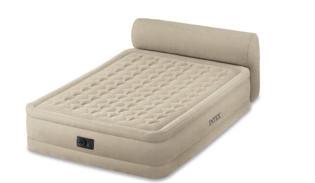 Genuine INTEX QUEEN DELUXE DURABEAM RAISED AIR BED MATTRESS WITH HEADBOARD 79cm