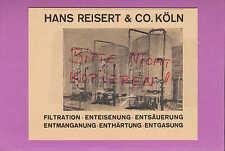 KÖLN, Werbung 1942, Hans Reisert & Co. Filtration Enteisung Entsäuerung