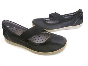 b06 Women's Shoes Painstaking Ahnu Ballerinas Mary Jane Größe 9 Leder Komfort Schwarz Comfort Shoes