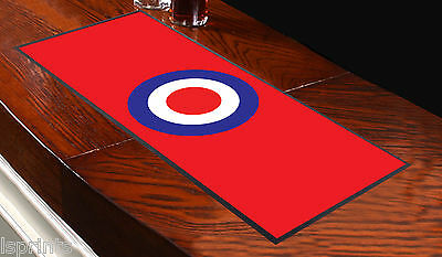 Mod Target White Design Bar Runner Ideal For Any Occasion Pub Club Party Home