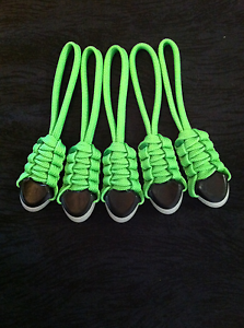 Fits Back Packs Gear Bags,Zombie Bug Out Bags-Orange Paracord Zipper Pulls 5
