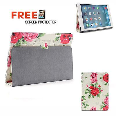 Large Rose 2 Fold Flower Pu Leather Smart Cover Case for Apple iPad Air iPad 5