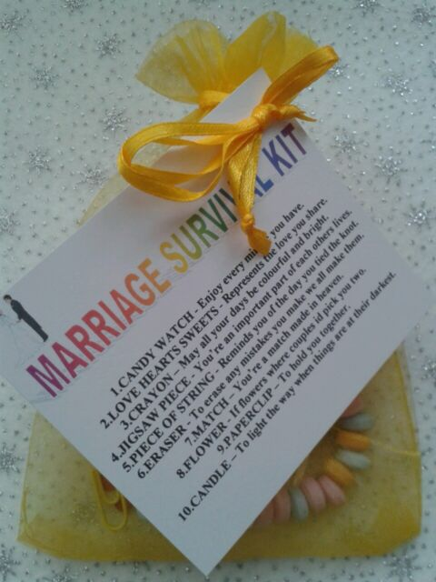 MARRIAGE Survival Kit - Unusual Gift - Novelty Wedding or Anniversary Present