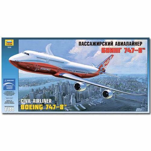 ZVEZDA 7010 Boeing 747-8 Aircraft Model Kit 1 144