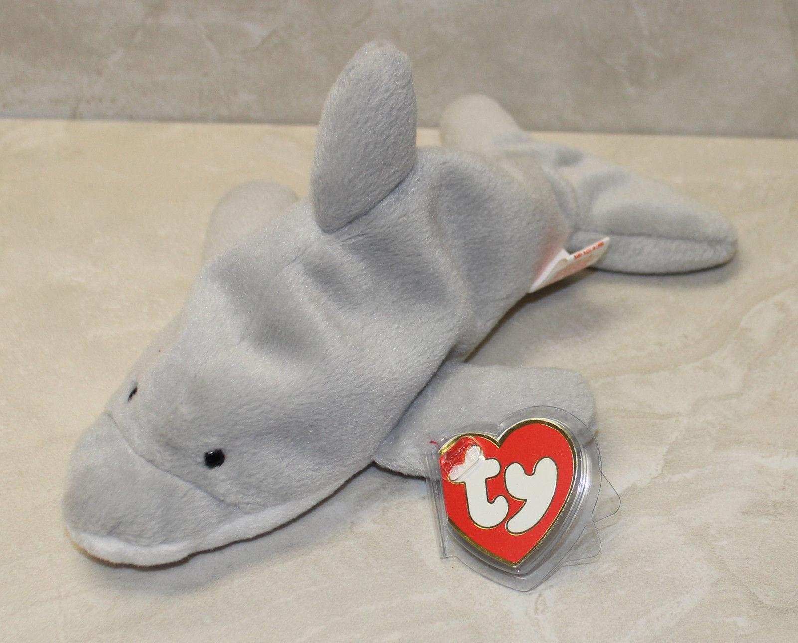 Flash (Dolphin) MWMT 3rd 2nd gen Ty Beanie Baby (SP)