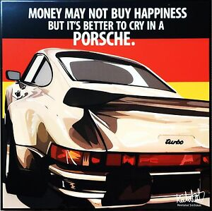 Details about Car Porsche 930 Turbo canvas quotes wall decals photo  painting pop art poster ❤️