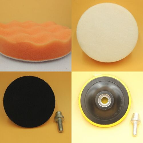 "4PC 7/"" New Orange Car Car Pads Set with M14 Blacker Plate"