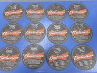 Lot Of 12 Budweiser King Of Beers Coasters Man Cave
