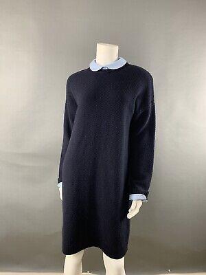 NWOT Hobbs London Woman Sweater Dress SZ10 UK 14 Navy Blue Knit Unlined | eBay