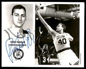 Dino Radja Autographed Signed Team Issued 8x10 Photo Boston Celtics 190633