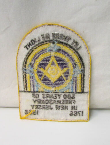 Details about  / 200 Years of Freemasonry in New Jersey ~ 1786-1986  ~ Embroidery Patch