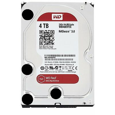 "Western Digital WD Red 4TB 3.5"" SATA Internal NAS Hard Drive HDD 5400RPM"