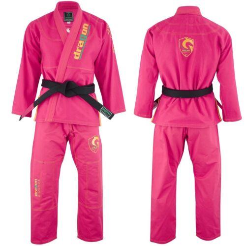 Kids Pink BJJ Gi MMA Grappling Kimono Jiu Jitsu Gi Brazilian Jiu Jitsu Uniform