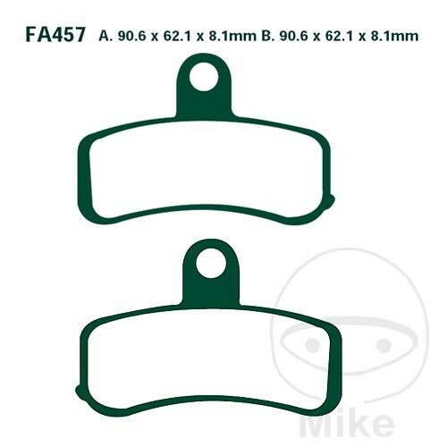 HARLEY DAVIDSON® FXS Blackline 11-13 EBC Sintered Front Brake Pads FA457HH